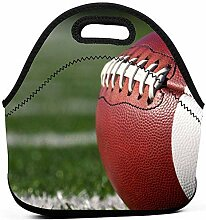 Lunch Tasche,Rugbyball-Fußball-Brotdose-Tragbare