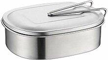 Lunchbox Edelstahl, Brotdose Rechteckige Edelstahl