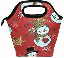 Lunchbox / Lunchbox mit Schneemännchen und