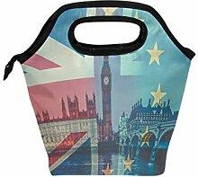 Lunchbox mit britischer Flagge und Westminster
