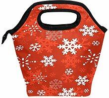 Lunchbox mit Schneeflocken-Motiv, für Damen,