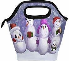 Lunchbox mit Schneemännchen, für Damen, Kinder,