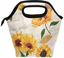 Lunchbox mit Sonnenblumen-Motiv, Lunchbox,