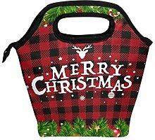 Lunchbox mit weihnachtlichem Karomuster, Lunchbox,