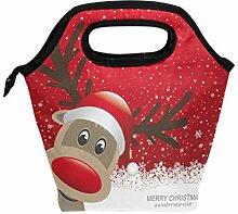 Lunchbox mit weihnachtlichem Rentier, für Damen,