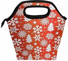 Lunchbox mit weihnachtlichem Schneeflocken-Motiv,