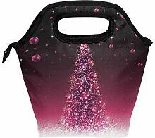 Lunchbox mit Weihnachtsbaum, Lunchbox, Handtasche