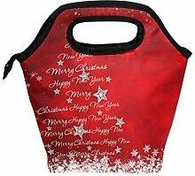 Lunchbox mit Weihnachtsbaum, Schneeflocke, Stern,