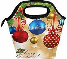 Lunchbox mit Weihnachtsbaumkugeln, Lunchbox,