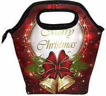 Lunchbox mit Weihnachtsglocken, Schleife,