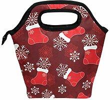 Lunchbox mit Weihnachtsstrümpfen,