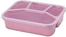 Lunchboxen 4-Grid Bento Box Mikrowelle Bento