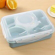 Lunchboxen 5 Zellen 1000 ml Leak-Proof Gesundes