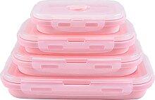 Lunchboxen Luda Rosa Food Grade Silikon-Lunchbox