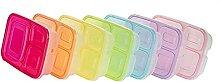 Lunchboxen Mahlzeit Prep Container 3 Fachs
