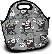 Lunchpaket Kids Lunch Rucksack Monster Set