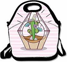 Lunchtasche aus Polyhedron, Glas, Neopren,