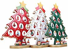 LUOEM Aus Holz Weihnachtsbaum Dekoration Weihnachten Tisch Schreibtisch Baum Ro