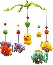 LUOEM Baby Bett Bell Sound Spielzeug Baby Krippe