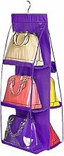 LUOEM Taschen Garderobe Kleiderschrank Tür mit 6 Fächern
