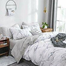 Luofanfei Baumwolle Bettwäsche 220x240 cm Weiß