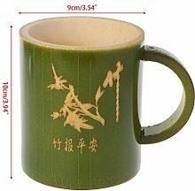 Luoxxxka Teetasse aus Bambus, handgefertigt,