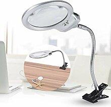 Lupenleuchte mit LED Lichters Metall Schwanenhals