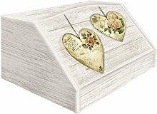 Lupia 'Rose Heart' Brotkasten aus Holz mit