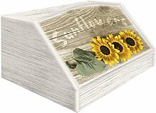 Lupia Brotkasten mit Dekor in 'Sunflowers'