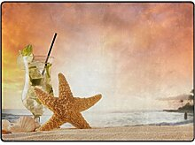 Lupine seabeach Sommer-Muschel mit Sonne-Strohhut