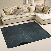 Lupine Sky Stars Starry Night Sky Bereich Teppich