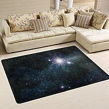 Lupine Sky Sterne Starry Night Sky Bereich Teppich