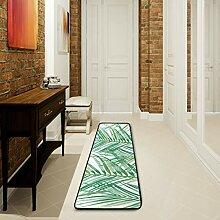 LUPINZ Badezimmerteppich mit Blättern und