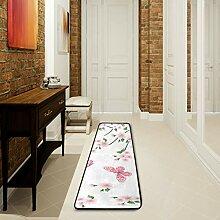 LUPINZ Badezimmerteppich mit Blumen und