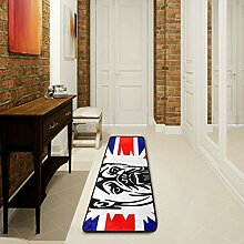 LUPINZ Badezimmerteppich mit britischer Bulldogge,