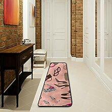 LUPINZ Badezimmerteppich mit hübschem Muster für
