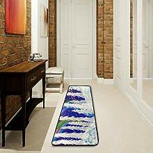 LUPINZ Badezimmerteppich mit Kiefernbäumen, 183 x