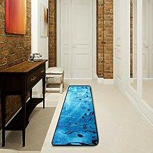 LUPINZ Badezimmerteppich mit Musiknoten und blauem