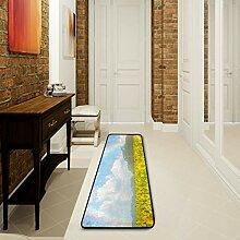 LUPINZ Badezimmerteppich mit Sonnenblumenfeld, 183