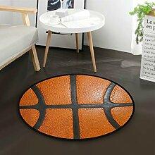 LUPINZ Basketballteppich/Fußmatte, rund,