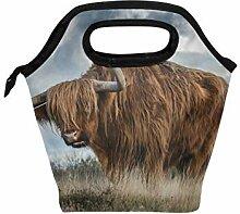 Lupinz Brottasche mit Bull-Motiv, leicht,