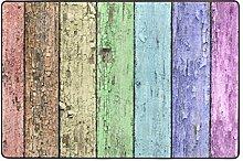 LUPINZ Fußmatte aus Holz, rutschfest, für