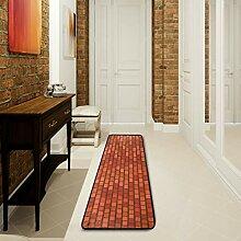 LUPINZ Teppich für Badezimmer, Mauerwerk, 183 x