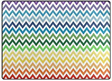 LUPINZ Teppich mit Buntem Zickzack-Muster,