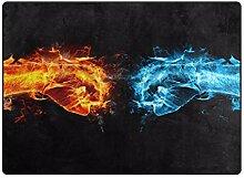 LUPINZ Teppich mit EIS- und Feuerfäusten,