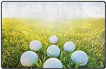 LUPINZ Teppich mit Golfbällen, rutschfeste