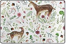 LUPINZ Teppich mit Hirsch im Wald, Muster,