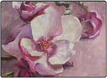LUPINZ Teppich mit Magnolienblüten-Motiv,