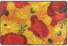 LUPINZ Teppich mit Mohnblumen und