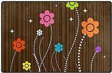 LUPINZ Teppich mit niedlichem Blumenmuster,